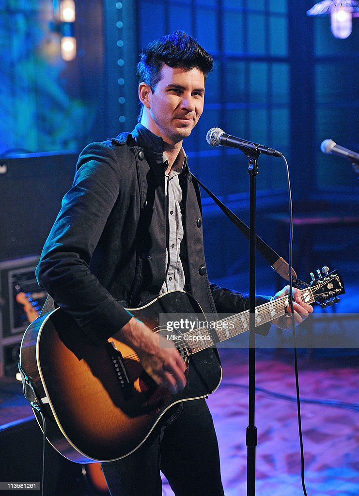 Singer Ryan Ogren of the band Runner Runner visits fuse Studios on May 3 2011 in New York City