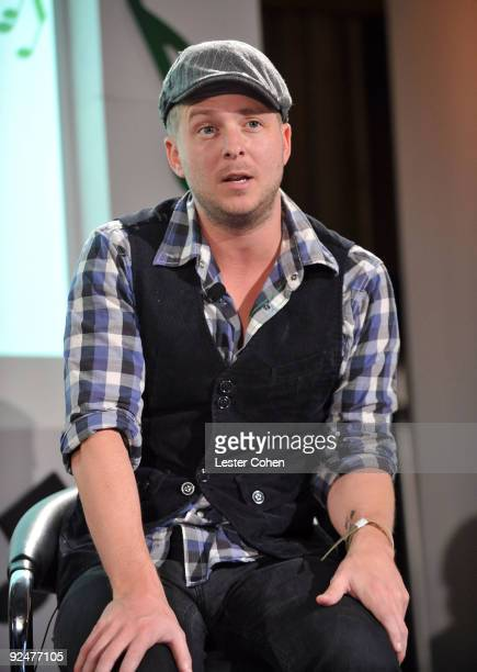 Singer Ryan Tedder of One Republic attends the Google and MySpace Invite You To Discover Music Press Conference at Capitol Records Studio on October...