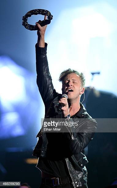 Singer Ryan Tedder of OneRepublic performs during the 2014 Billboard Music Awards at the MGM Grand Garden Arena on May 18 2014 in Las Vegas Nevada