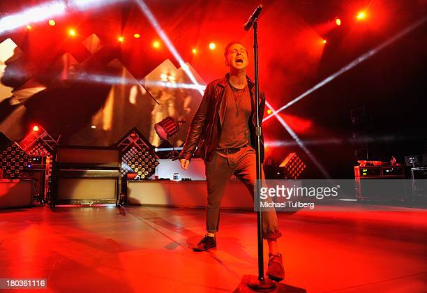 Singer Ryan Tedder of OneRepublic performs live at The Greek Theatre on September 11 2013 in Los Angeles California