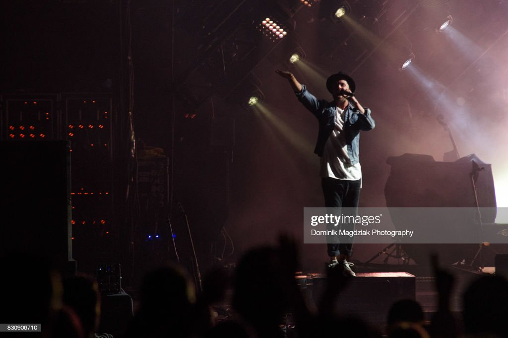Singer Ryan Tedder of OneRepublic performs on stage during the '2017 Honda Civic Tour' at the Budweiser Stage on August 12, 2017 in Toronto, Canada.