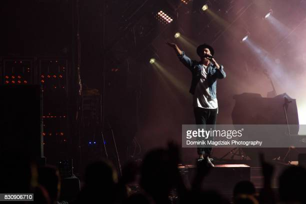 Singer Ryan Tedder of OneRepublic performs on stage during the '2017 Honda Civic Tour' at the Budweiser Stage on August 12 2017 in Toronto Canada