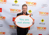 Singer Ryan Tedder poses in the Getty Images and Wonderwallcom photo booth and green room at 'Trevor Live' honoring Katy Perry and Audi of America...