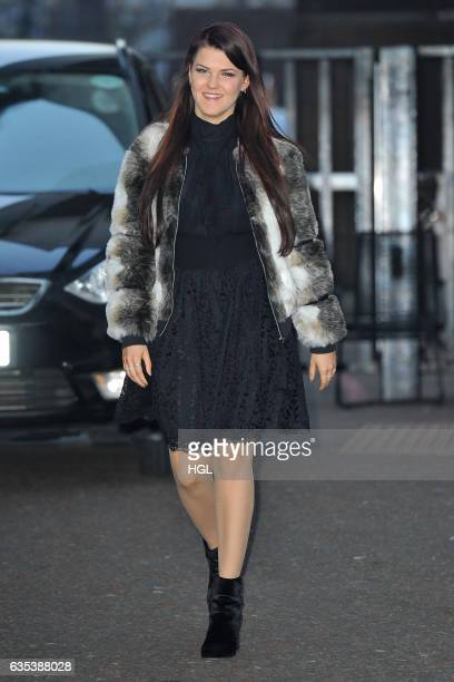 Singer Saara Aalto seen at the ITV Studios on February 15 2017 in London England