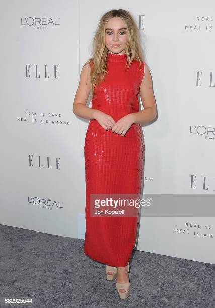 Singer Sabrina Carpenter arrives at ELLE's 24th Annual Women in Hollywood Celebration at Four Seasons Hotel Los Angeles at Beverly Hills on October...