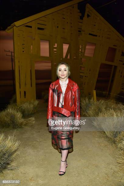 Singer Sabrina Carpenter attends Coach FW17 Show at Pier 76 on February 14 2017 in New York City
