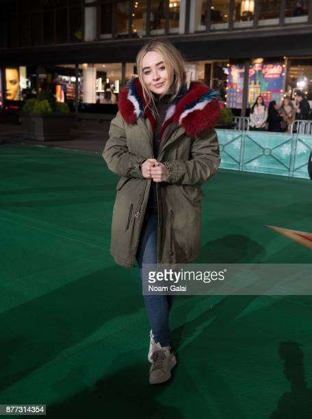 Singer Sabrina Carpenter attends the rehearsals for the 91st Annual Macy's Thanksgiving Day Parade on November 21 2017 in New York City