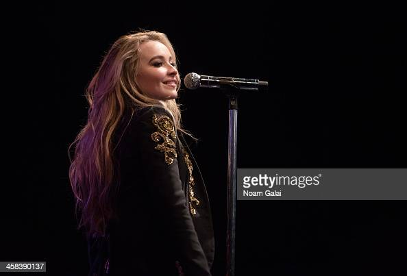 Singer Sabrina Carpenter performs at Highline Ballroom on November 21 2016 in New York City