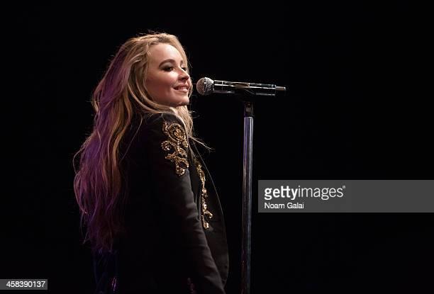 Singer Sabrina Carpenter performs at Highline Ballroom on November 21 2016 in New York City