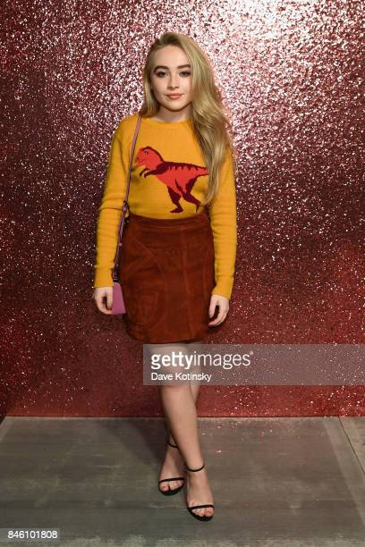 Singer Sabrina Carpenter poses for a portrait during Coach Spring 2018 Fashion Show during New York Fashion Week at Basketball City Pier 36 South...