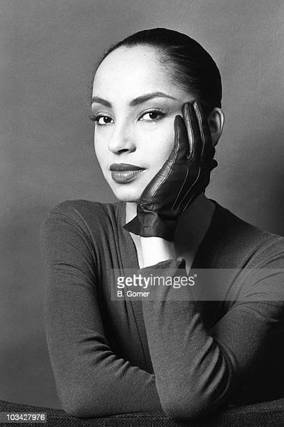 Singer Sade Adu poses on January 27 1984