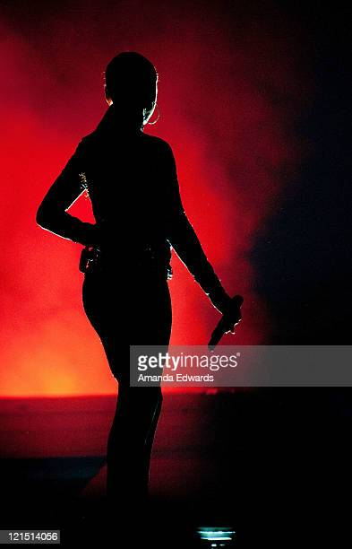 Singer Sade performs onstage at the Staples Center on August 19 2011 in Los Angeles California
