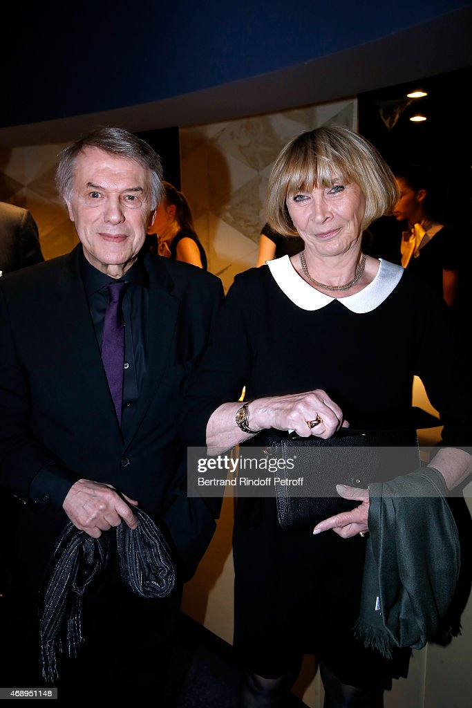Singer <a gi-track='captionPersonalityLinkClicked' href=/galleries/search?phrase=Salvatore+Adamo&family=editorial&specificpeople=618990 ng-click='$event.stopPropagation()'>Salvatore Adamo</a> and his wife Nicole attend the 'Paris Merveilles', Lido New Revue : Opening Gala on April 8, 2015 in Paris, France.