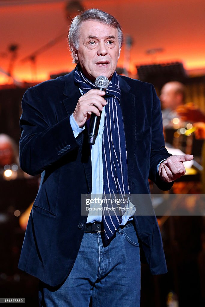 Singer Salvatore Adamo performs at 'Le Grand Show' by Laurent Gerra : Rehearsal at La Plaine Saint Denis on September 20, 2013 in Paris, France.