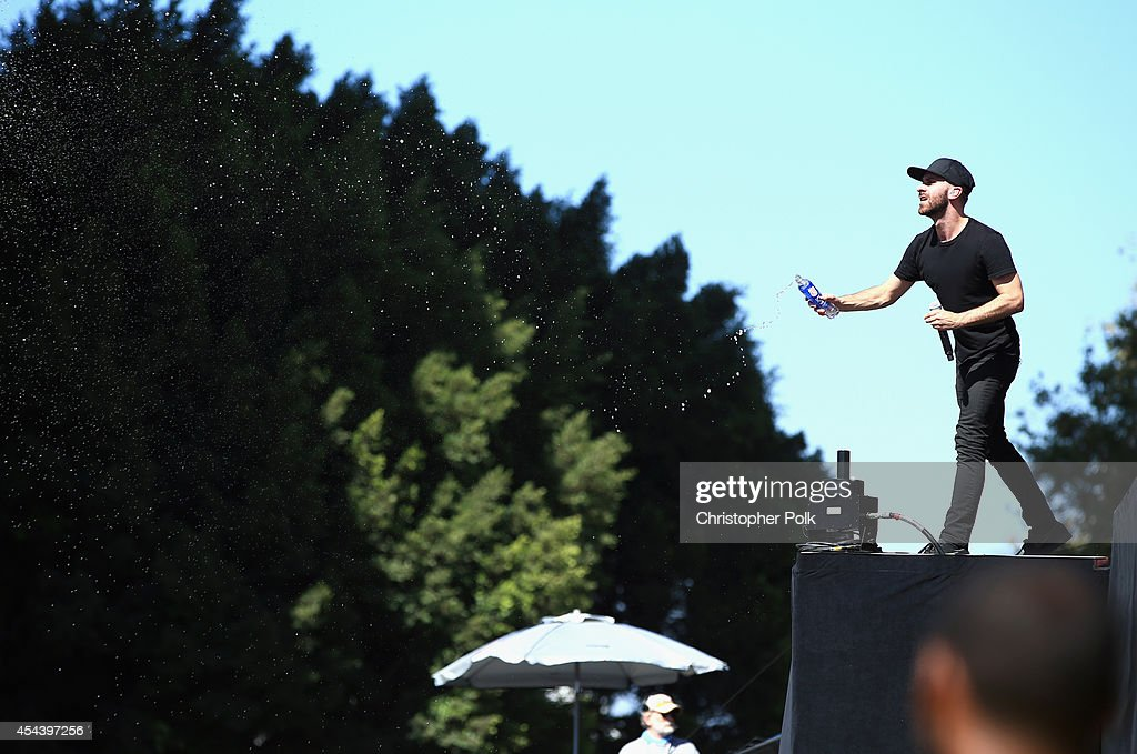 Singer Sam Harris of X Ambassadors performs on the Marilyn Stage during day 1 of the 2014 Budweiser Made in America Festival at Los Angeles Grand...