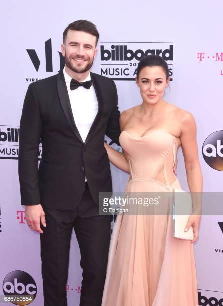 Singer Sam Hunt and Hannah Lee Fowler arrive at 2017 Billboard Music Awards at TMobile Arena on May 21 2017 in Las Vegas Nevada