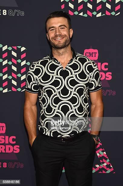 Singer Sam Hunt attends the 2016 CMT Music awards at the Bridgestone Arena on June 8 2016 in Nashville Tennessee