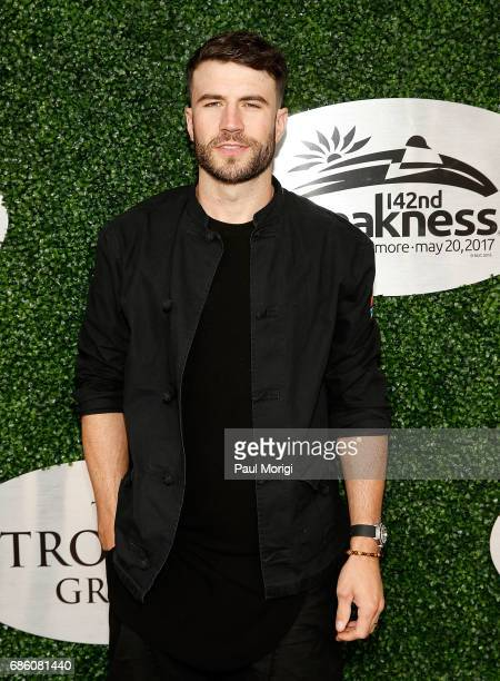 Singer Sam Hunt InField Fest Headliner arrives at The Stronach Group Owner's Chalet at 142nd Preakness Stakes at Pimlico Race Course on May 20 2017...