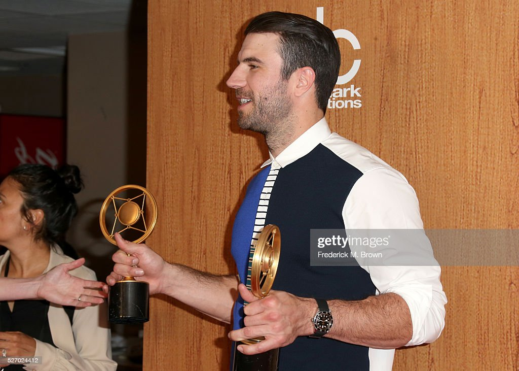 Singer <a gi-track='captionPersonalityLinkClicked' href=/galleries/search?phrase=Sam+Hunt+-+Singer&family=editorial&specificpeople=13704957 ng-click='$event.stopPropagation()'>Sam Hunt</a>, winner of the awards for 'Digital Album of the Year' and 'Breakthrough Male of the Year', poses in the press room during the 2016 American Country Countdown Awards at The Forum on May 1, 2016 in Inglewood, California.