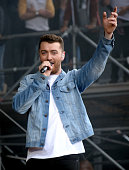 Singer Sam Smith performs at the Lands End Stage during day 3 of the 2015 Outside Lands Music And Arts Festival at Golden Gate Park on August 9 2015...