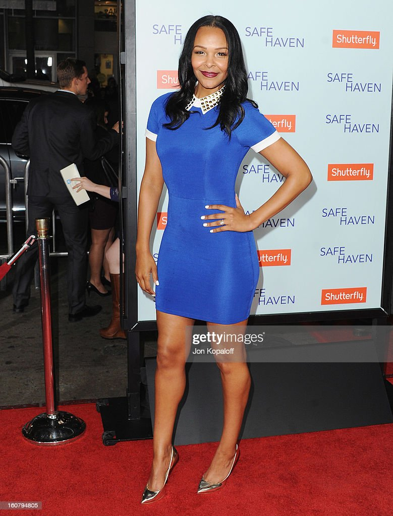 Singer Samantha Mumba arrives at the Los Angeles Premiere 'Safe Haven' at TCL Chinese Theatre on February 5, 2013 in Hollywood, California.