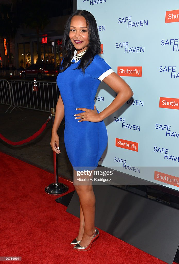 Singer Samantha Mumba arrives at the premiere of Relativity Media's 'Safe Haven' at TCL Chinese Theatre on February 5, 2013 in Hollywood, California.