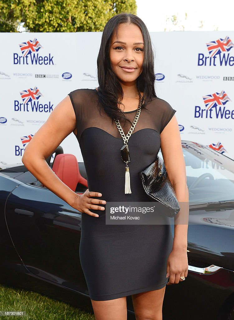 Singer Samantha Mumba attends the BritWeek Los Angeles Red Carpet Launch Party with Official Vehicle Sponsor Jaguar on April 23, 2013 in Los Angeles, California.