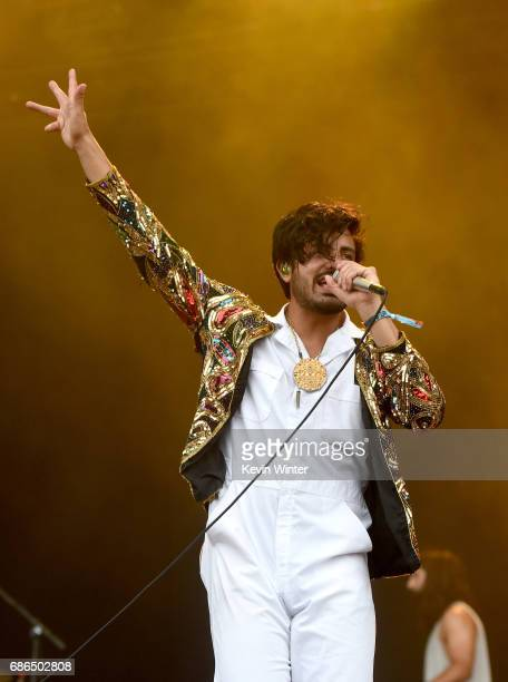 Singer Sameer Gadhia of the band Young the Giant performs at the Hangout Stage during 2017 Hangout Music Festival on May 21 2017 in Gulf Shores...
