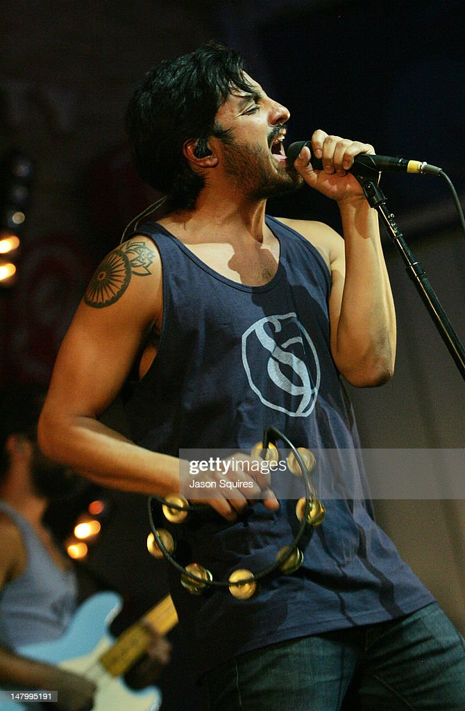 Singer Sameer Gadhia of Young The Giant performs at the Power & Light District on July 6, 2012 in Kansas City, Missouri.