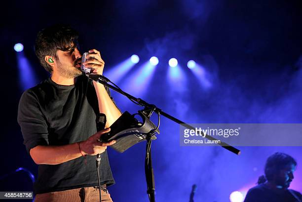 Singer Sameer Gadhia of Young The Giant performs onstage during the MercedesBenz Evolution Tour with Alabama Shakes Young the Giant at The Barker...
