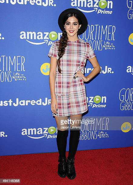 SInger Sammi Sanchez attends the Just Jared fall fun day on October 24 2015 in Los Angeles California