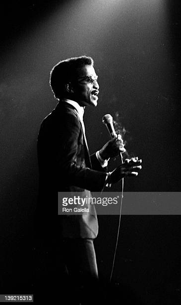 Singer Sammy Davis Jr attends Italian American Civil Rights League Benefit Concert on November 20 1970 at Madison Square Garden in New York City