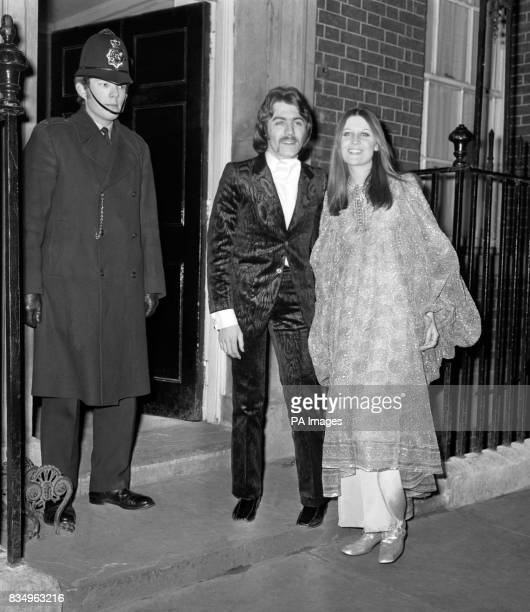 Singer Sandie Shaw and her husband Jeff Banks arrive at 10 Downing Street for the reception given by the Prime Minister for Willy Brandt The West...