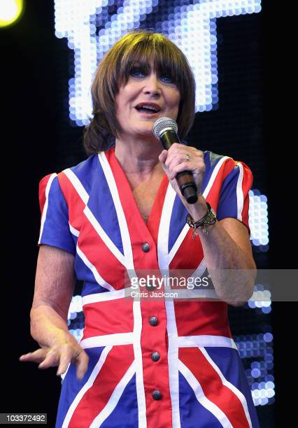 Singer Sandie Shaw performs on stage during Day 1 of the Vintage at Goodwood Festival on August 13 2010 in Chichester England