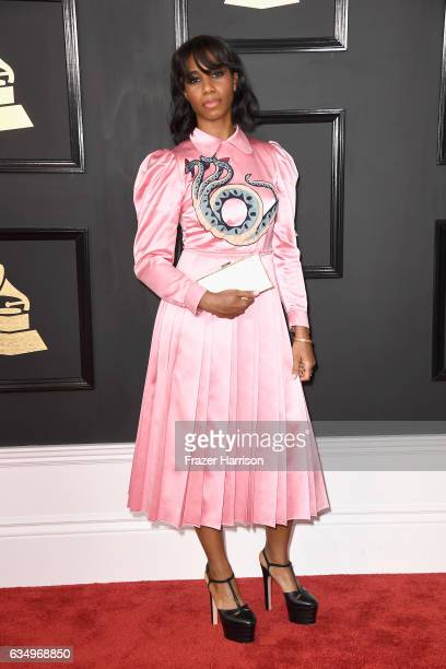Singer Santigold attends The 59th GRAMMY Awards at STAPLES Center on February 12 2017 in Los Angeles California