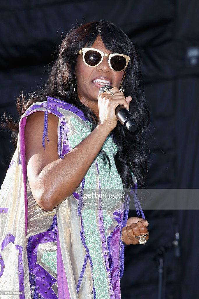 Singer Santigold performs at the 27th Annual JazzReggae Festival - Day 1 at UCLA on May 26, 2013 in Los Angeles, California.
