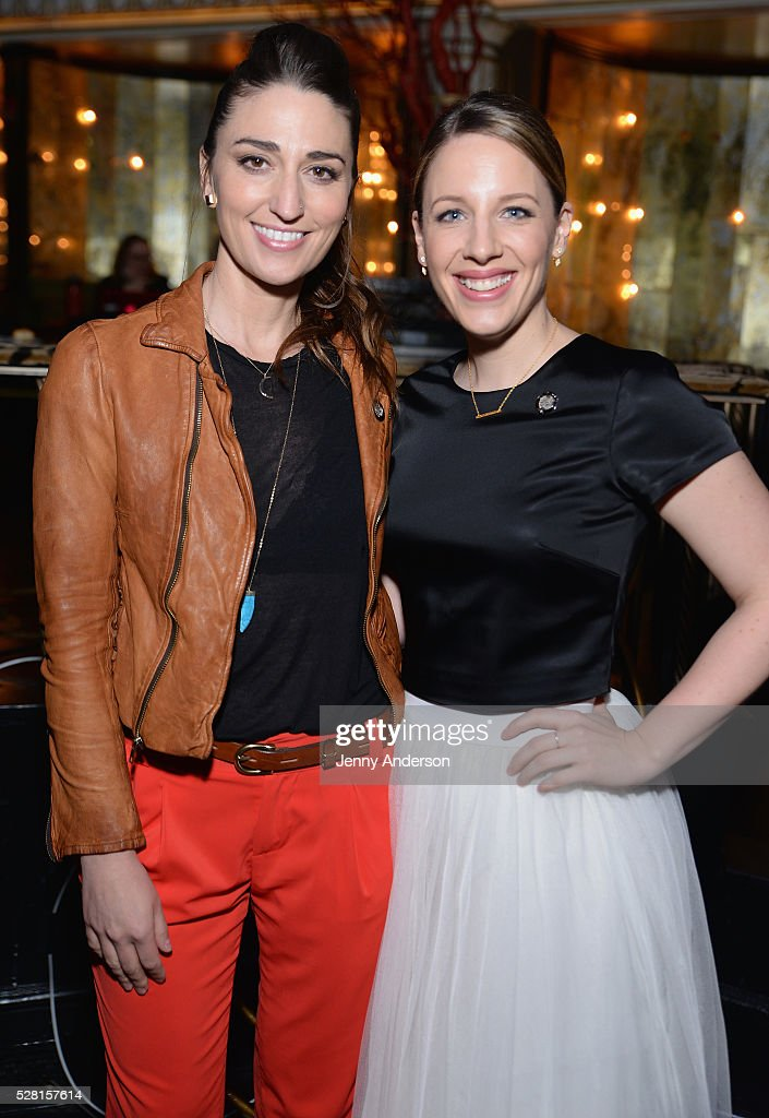 Singer <a gi-track='captionPersonalityLinkClicked' href=/galleries/search?phrase=Sara+Bareilles&family=editorial&specificpeople=4116387 ng-click='$event.stopPropagation()'>Sara Bareilles</a> (L) and Actress <a gi-track='captionPersonalityLinkClicked' href=/galleries/search?phrase=Jessie+Mueller&family=editorial&specificpeople=8736414 ng-click='$event.stopPropagation()'>Jessie Mueller</a> attend 2016 Tony Awards Meet The Nominees Press Reception on May 4, 2016 in New York City.