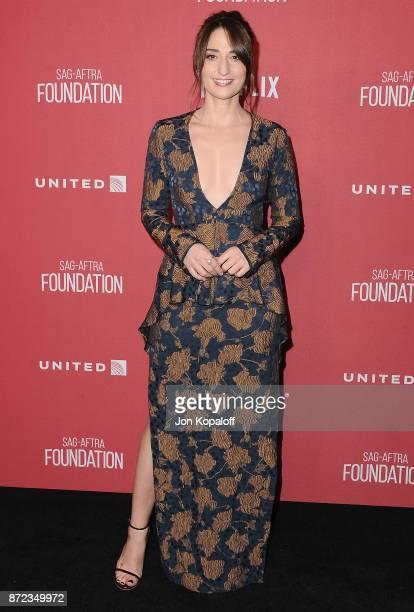 Singer Sara Bareilles arrives at SAGAFTRA Foundation Patron of the Artists Awards 2017 on November 9 2017 in Beverly Hills California