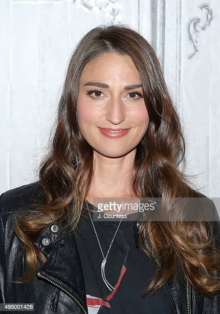 Singer Sara Bareilles attends AOL BUILD Presents 'Sounds Like Me My Life In Song' at AOL Studios In New York on October 30 2015 in New York City