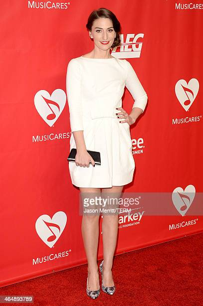 Singer Sara Bareilles attends The 2014 MusiCares Person Of The Year Gala Honoring Carole King at Los Angeles Convention Center on January 24 2014 in...