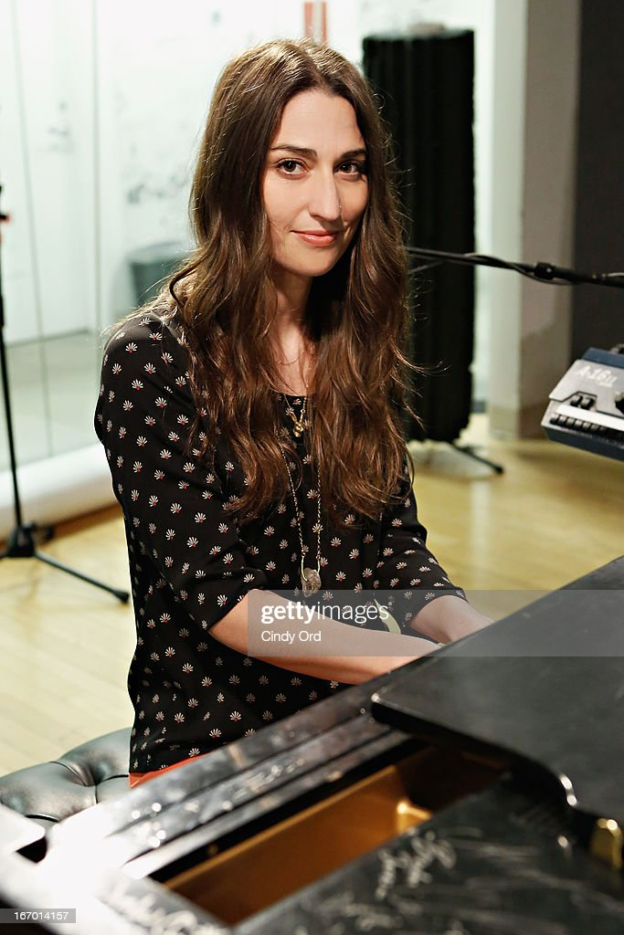 Singer <a gi-track='captionPersonalityLinkClicked' href=/galleries/search?phrase=Sara+Bareilles&family=editorial&specificpeople=4116387 ng-click='$event.stopPropagation()'>Sara Bareilles</a> performs at the SiriusXM Studios on April 19, 2013 in New York City.