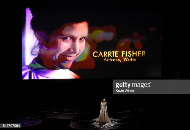 Singer Sara Bareilles performs onstage during the 89th Annual Academy Awards at Hollywood Highland Center on February 26 2017 in Hollywood California