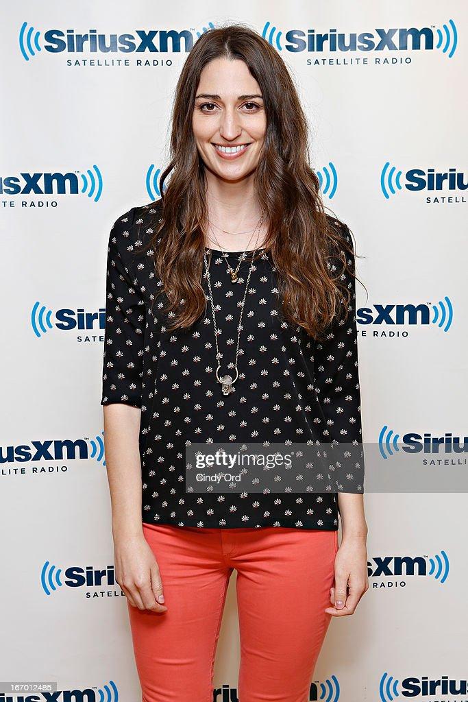Singer Sara Bareilles visits the SiriusXM Studios on April 19, 2013 in New York City.