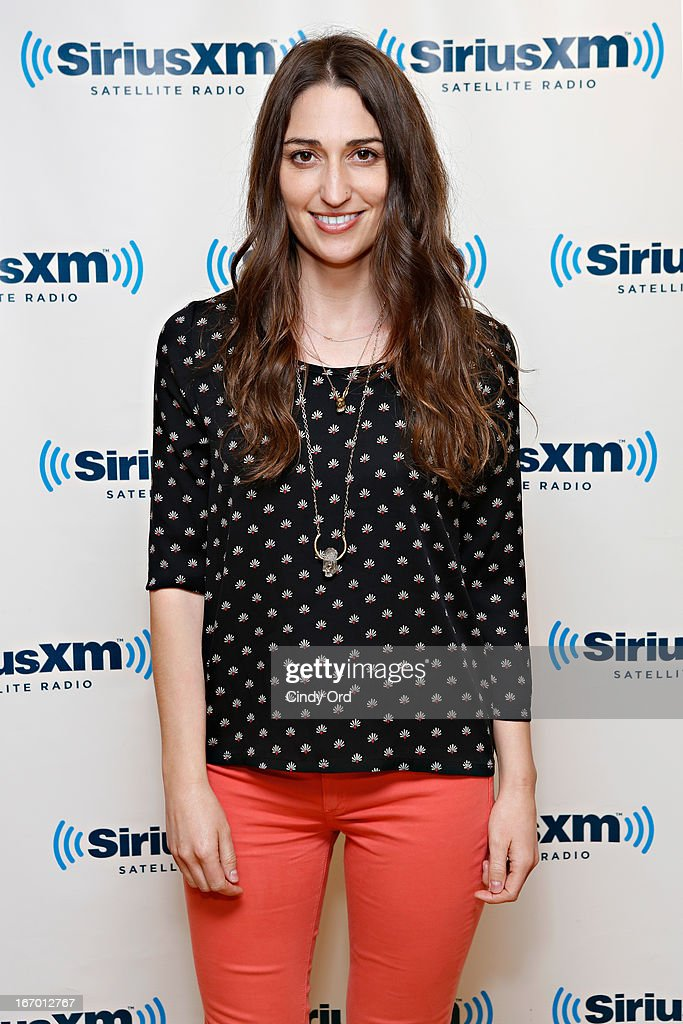 Singer Sara Bareilles visits the SiriusXM Studios on April 19, 2013 in New York City.