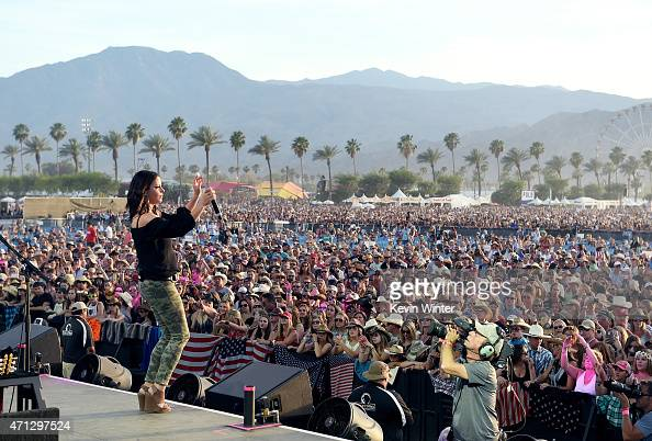 Singer Sara Evans performs onstage during day three of 2015 Stagecoach California's Country Music Festival at The Empire Polo Club on April 26 2015...