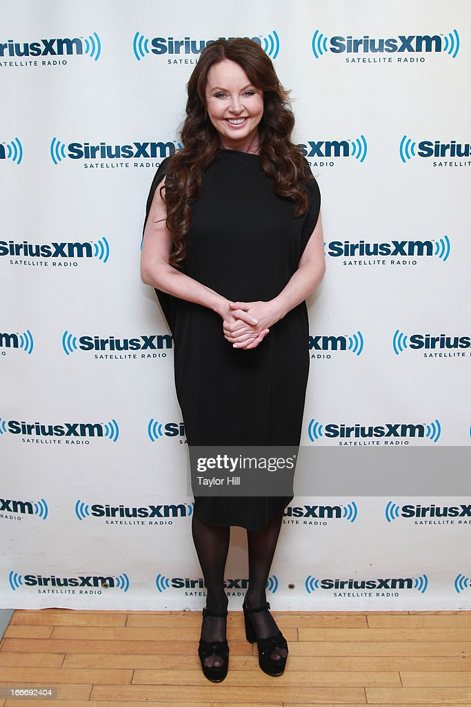 Singer Sarah Brightman visits the SiriusXM Studios on April 15, 2013 in New York City.