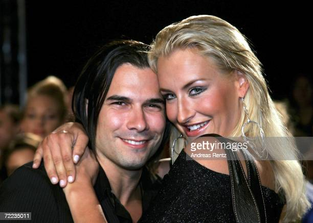 Singer Sarah Connor and her husband Marc Terenzi arrive at the 50th Anniversary of Bravo Magazine at the Color Line Arena on October 21 2006 in...