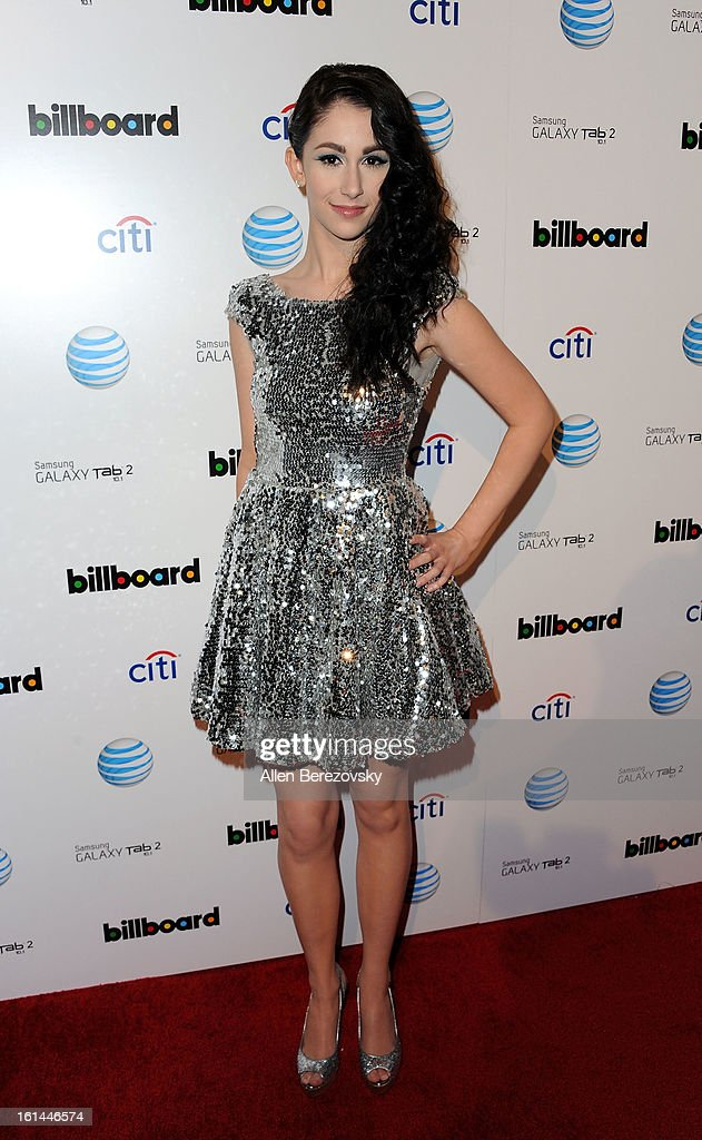 Singer Sarah Hackett attends the Billboard GRAMMY after party presented by Citi at The London Hotel on February 10, 2013 in West Hollywood, California.