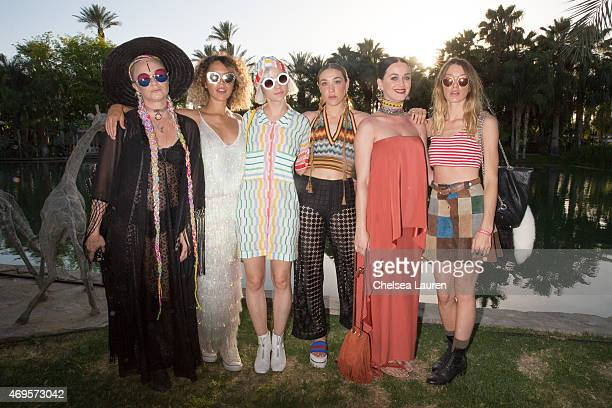 Singer Sarah Hudson artist Cleo Wade musician Margot of The Dolls musician Mia Moretti of The Dolls singer Katy Perry and model Janell Shirtcliff...