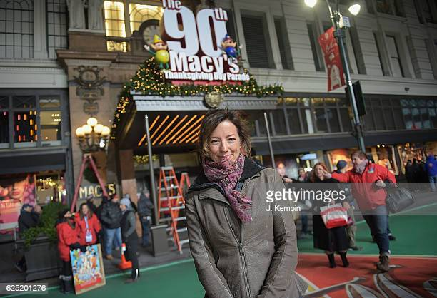Singer Sarah McLachlan attends the 90th Anniversary Macy's Thanksgiving Day Parade Rehearsals Day 2 at Macy's Herald Square on November 22 2016 in...